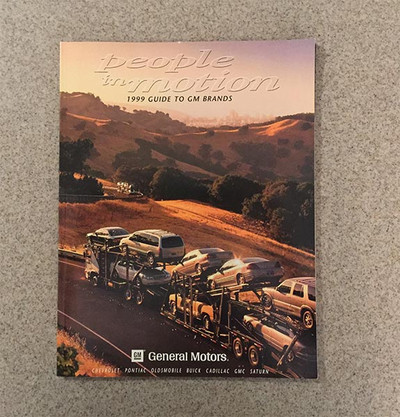 1999 GM Full Line Product Guide Original Brochure