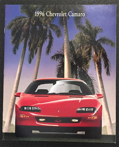 1996 Chevrolet Camaro Original Brochure