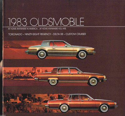 1983 Oldsmobile Toronado, Ninety-Eight, Delta 88 Original Brochure