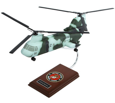 CH-46 Sea Knight USMC Helicopter Model