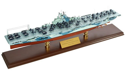 USS Yorktown CV-10 Aircraft Carrier Ship Model