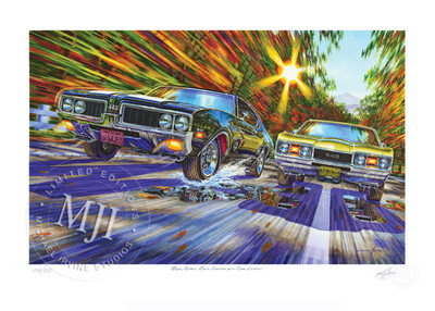 Four Barrel Four Speeds By Michael Irvine Studios Print