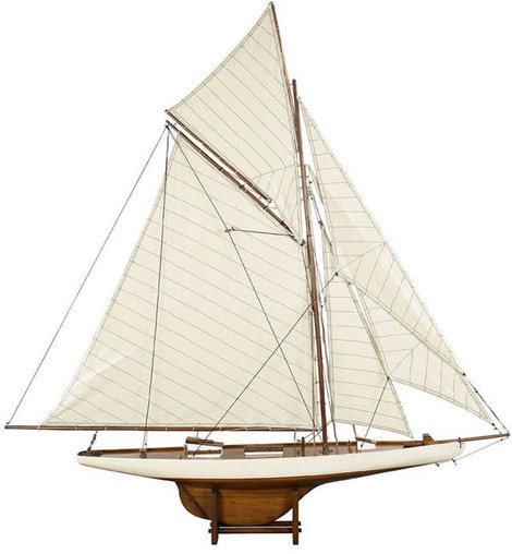 Authentic Models 1901 America's Cup Columbia Med. Sailboat