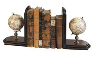 Authentic Models Globe Bookends with French Finish