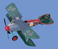 Albatros D.V Flower Gray-Red/Blue-Green Camou Airplane Model