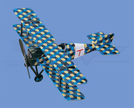 Aviatik Berg D1 Scaled Camou/Yellow Scale Model Airplane AM321AR