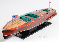 Chris-Craft Triple Cockpit Painted Speedboat Model