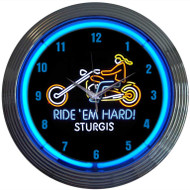 Neonetics Motorcycle Ride EM Hard Sturgis Neon Clock