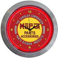 Neonetics Mopar Red Vintage Neon Clock