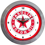 Neonetics Texaco Gasoline Neon Clock