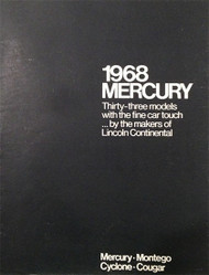 1968 Mercury Dealer Full Line 56-page Brochure