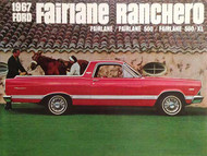 1967 Ford Fairlane Ranchero Color Brochure