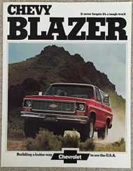 1974 Chevy Blazer Sales Brochure