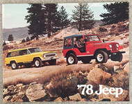 1978 Jeep Line Dealer Sales Brochure