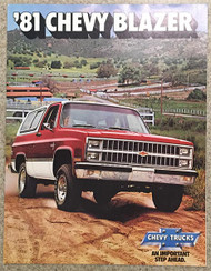 1981 Chevy Blazer Dealer Brochure