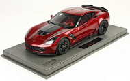 BBR Models 2015 Corvette Z06 in Red Diecast Car BBR1893C