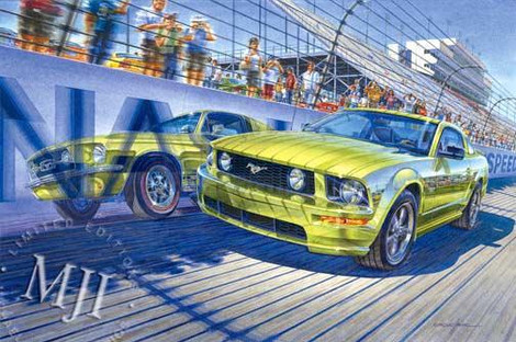 Flashback on the Track By Michael Irvine Studios Print