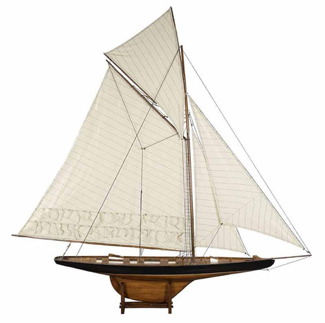 Authentic Models 1901 America's Cup Columbia Large Sailboat