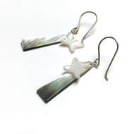 Sterling Silver Soft Winged Butterfly Earrings