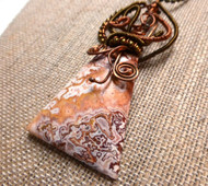 Crazy Lace Agate Crazy Wisdom Necklace,
