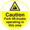 Caution Fork Lift Trucks Anti-slip