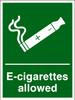 E-cigarettes allowed