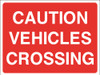 Caution vehicles crossing