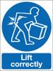 Lift correctly sign