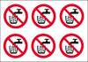 Do not drink stickers