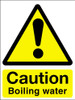 Caution boiling water sign