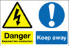 Danger exposed live conductors Keep away