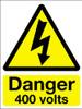 Danger 400 volts sign