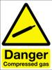 Danger compressed gas sign