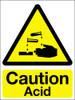 Caution acid sign
