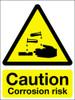 Caution corrosion risk sign