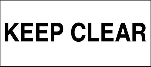 Keep clear.