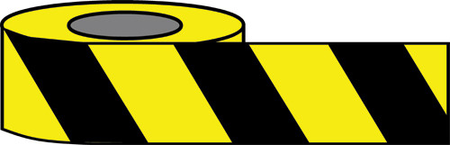 Black/Yellow Hazard warning tape