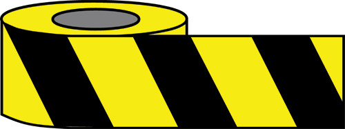 Black and Yellow Economy Barricade tape