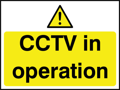 CCTV in operation.