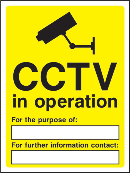 CCTV in operation for the purpose of