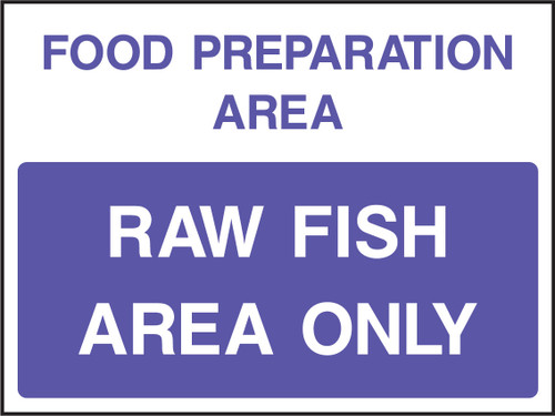 Food prep area raw fish area only