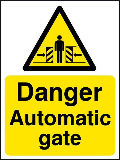 Danger Automatic gate
