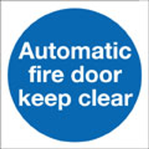 Automatic fire door keep clear,