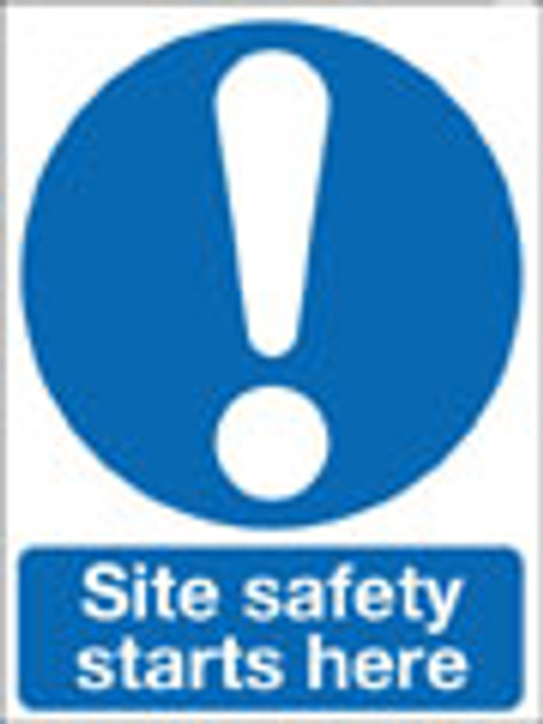 Site safety starts here warning sign