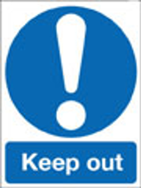 Keep out.sign