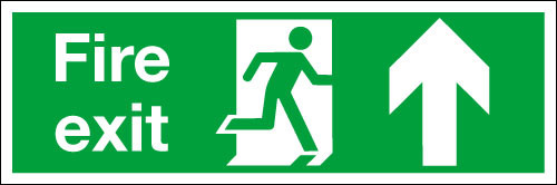 Fire exit sign up
