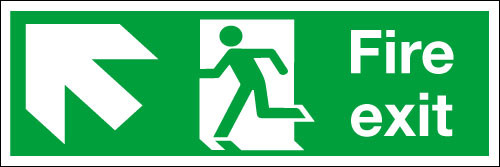 Fire exit Sign Up/Left