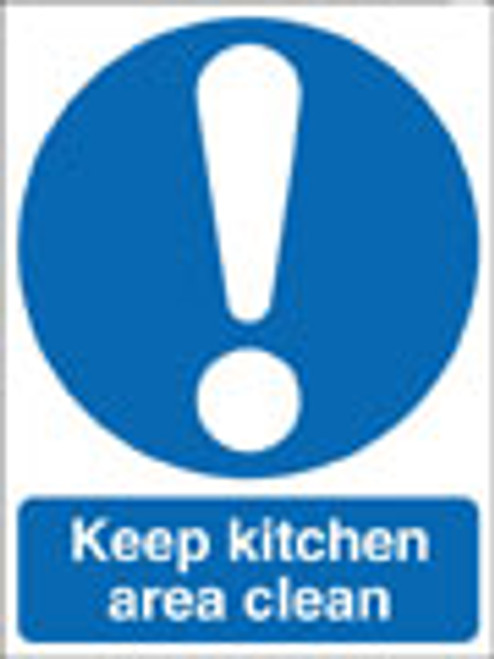 Keep kitchen area clean sign