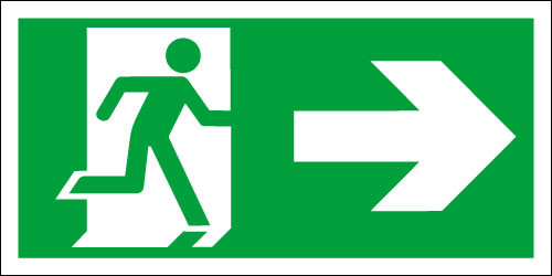 Fire exit sign, Running Man Right