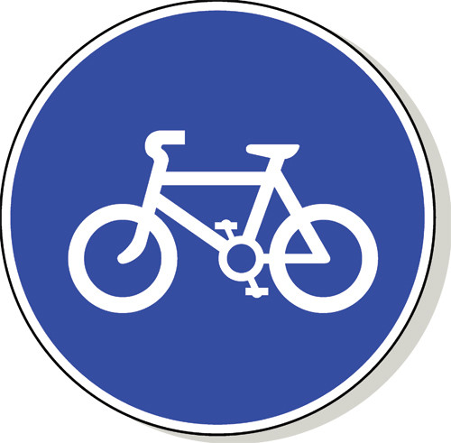 Cycle Route road sign